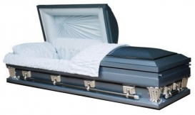 Monarch Blue 18 Gauge Casket